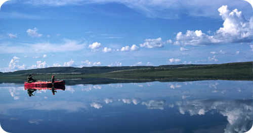 Canoe on an Arctic Lake by Tim Irvin