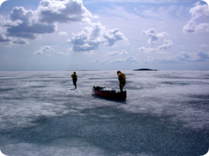 Canoe on Arctic Ice by Tim Irvin
